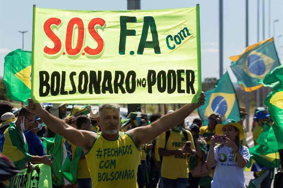 Supremo de Brasil repudia amenazas pro bolsonaristas