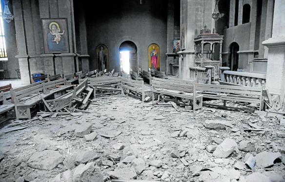 Catedral de Shushá, bombardeada