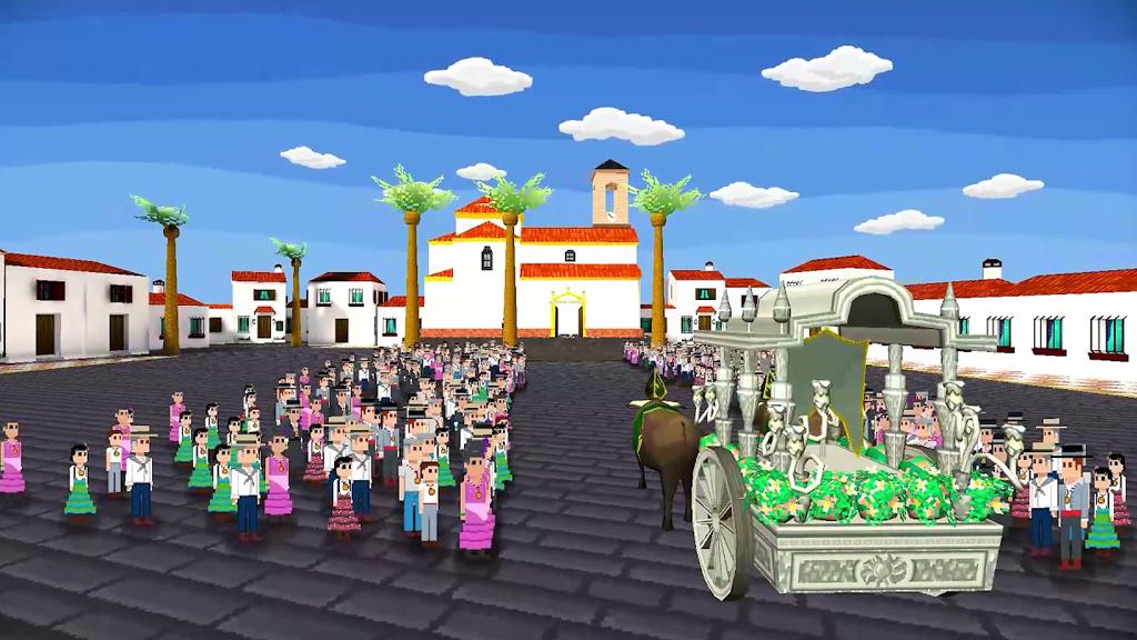 Lanzan el primer videojuego que recrea la experiencia del camino y la romería de El Rocío