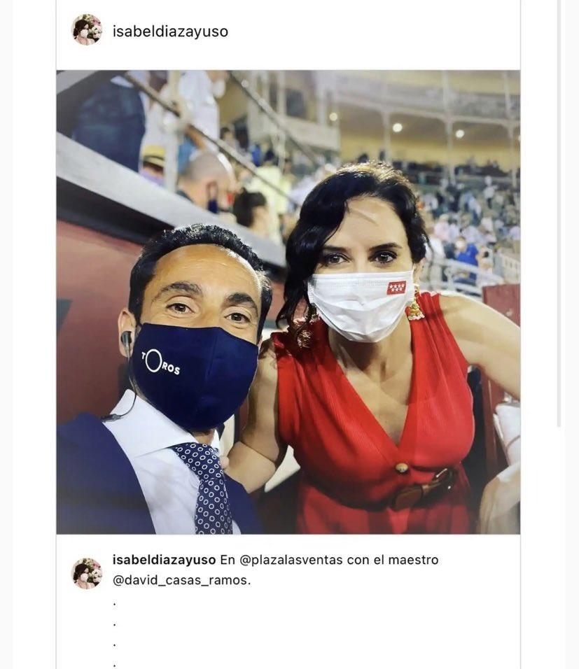 Instagram restituye la foto de Ayuso en la Plaza de las Ventas