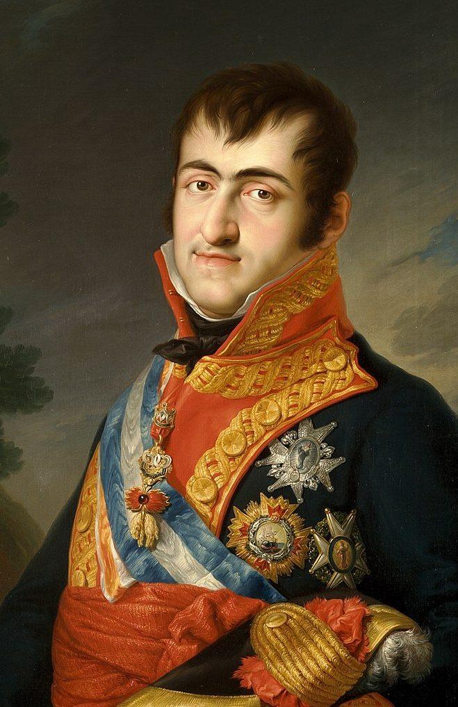 El rey Fernando VII, en retrato de Vicente López.
