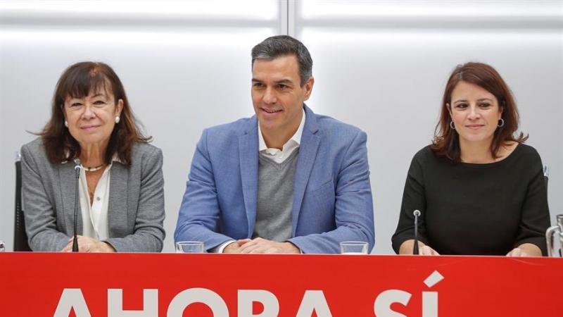 Congreso del PSOE: Sánchez, Narbona y Lastra